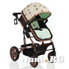 Детска комбинирана количка Pavo - светло зелено