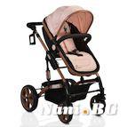 Детска комбинирана количка Pavo - светло розово