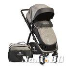 Детска комбинирана количка Stefanie - сиво