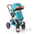 Детска комбинирана количка Luxor - синьо