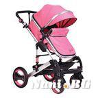 Детска комбинирана количка Gala - розово