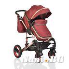 Детска комбинирана количка Gala - кафяво