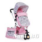 Детска комбинирана количка Sarah - розово