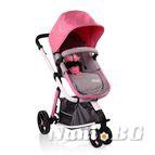 Детска комбинирана количка Sarah - циклама