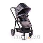 Детска комбинирана количка Rachel - сиво на фигури