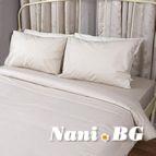 Спално бельо - Бежово на Бели Точки