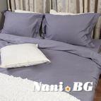 Спално бельо памучен сатен - Тъмно сиво
