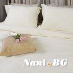 Спално бельо памучен сатен - Шампанско