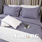 Спално бельо памучен сатен - Светло сиво