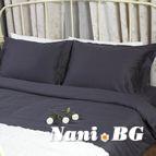 Спално бельо памучен сатен - Антрацит