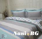 Спално бельо памучен сатен Бел