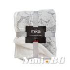 Двулицево декоративно одеяло - светло сиво