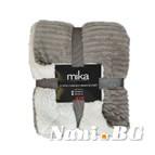 Декоративно одеяло Шепра на райета - светло кафяво
