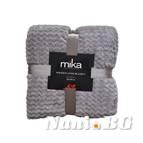 Одеяло микрофибър на вълни MiKa - сиво