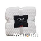 Одеяло микрофибър на вълни MiKa - бяло