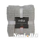 Одеяло микрофибър каре MiKa - сиво