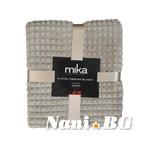Одеяло микрофибър каре MiKa - светло кафяво