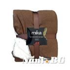 Одеяло микрофибър MiKa - тъмно кафяво