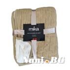 Декоративно одеяло MiKa - бежово