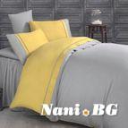 Двуцветно спално бельо от сатениран памук- Kharma V1