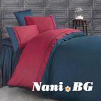 Двуцветно спално бельо от сатениран памук - Kharma V4