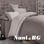Двуцветно спално бельо от сатениран памук - Kharma V5