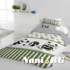 Единично спално бельо ранфорс - Панди