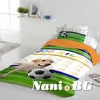 Единично спално бельо ранфорс - Куче