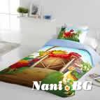 Единично спално бельо ранфорс - Дино