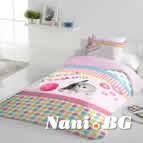 Единично спално бельо ранфорс - Котенце
