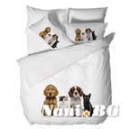 3D Спално бельо - Приятели котки и кучета