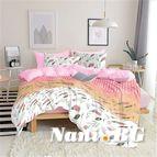 Спално бельо - Цветя в розово