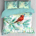 Лимитирана колекция коледно спално бельо - Коледна Птичка