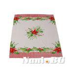 Коледна покривка 100x150 - Коледни цветя