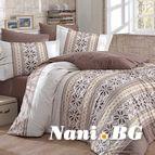 Спално бельо памук поплин - CARLA KAHVE