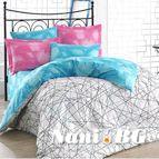 Спално бельо памук поплин - ELISA PEMBE