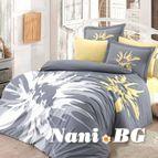 Спално бельо памук поплин - ROMANA GRI