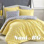 Спално бельо памук поплин - NAZENDE SARI
