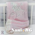 БЕБЕШКО одеяло с апликация - Доди розово