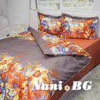 Спално бельо памучен сатен Калиста