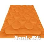 Зимна олекотена завивка Микрофибър - оранжев