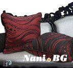 Декоративна Възглавница Дионис - Черно и Червено