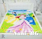 Детски олекотена завивка Памучен Сатен Три Принцеси