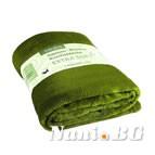 Одеяло екстра софт - тъмно зелено