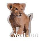 Декоративна Възглавница ФЛИЙС 3D печат - CSH 332 Лъв