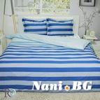 Спално бельо памучен сатен Лагуна