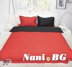 Спално бельо памучен сатен - Червено и Черно
