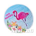 Плажна кърпа с ресни DF печат Ф150 - Фламинго