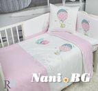 Бебешки к-т с олекотена завивка Трико - Розов Балон