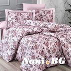 Луксозно спално бельо памучен сатен Deluxe - AGORA PUDRA